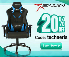 Use Code techaeris for 20% off the purchase of an Ewin Gaming Chair