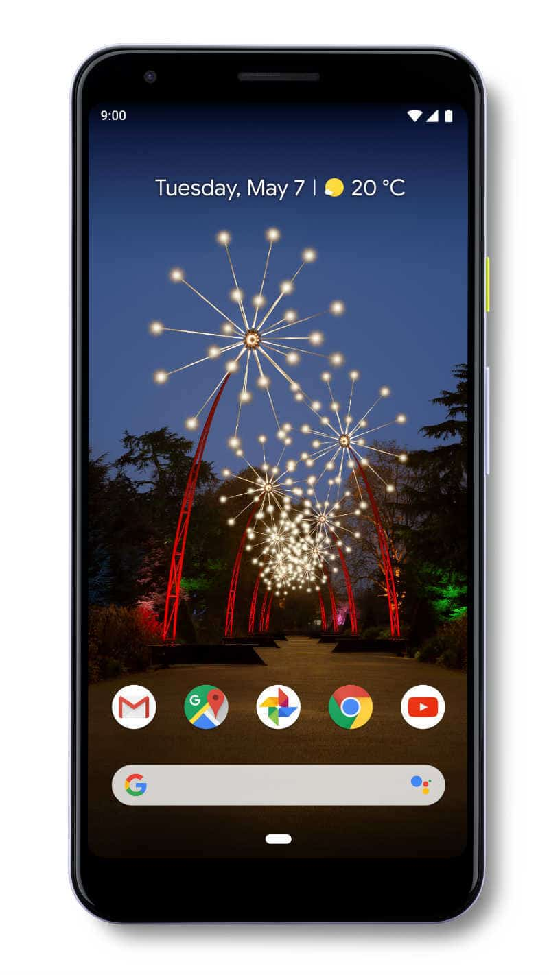 The Google Pixel 3a front view.