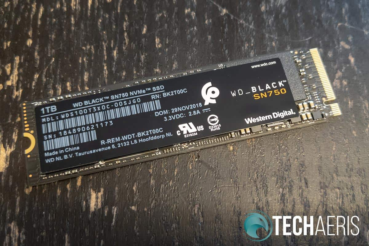 The WD Black SN750 NVMe SSD.