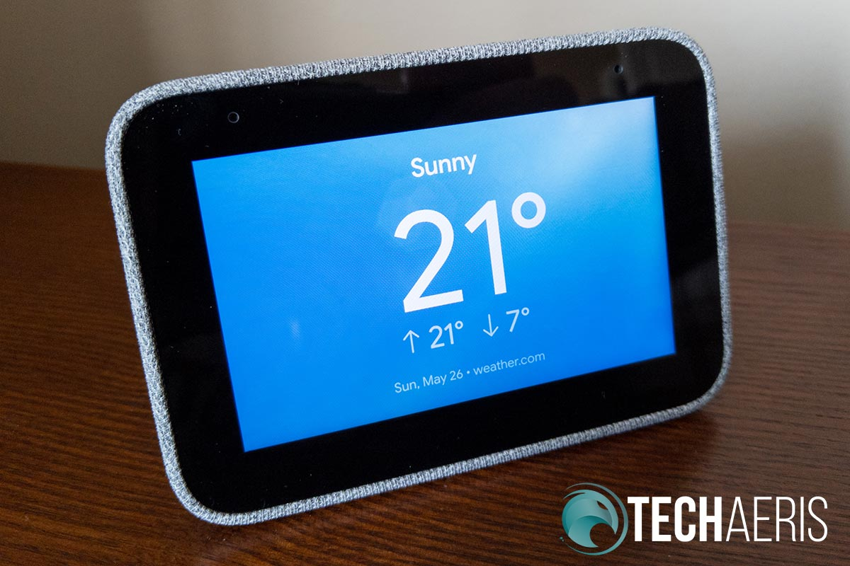 Lenovo Smart Clock weather screen