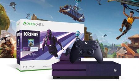 E3 2019 purple Xbox One S Fortnite Special Edition console