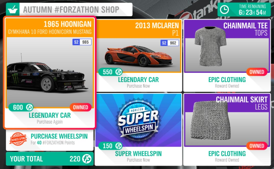 Forza Horizon 4 Autumn #Forzathon Shop for July 11-18