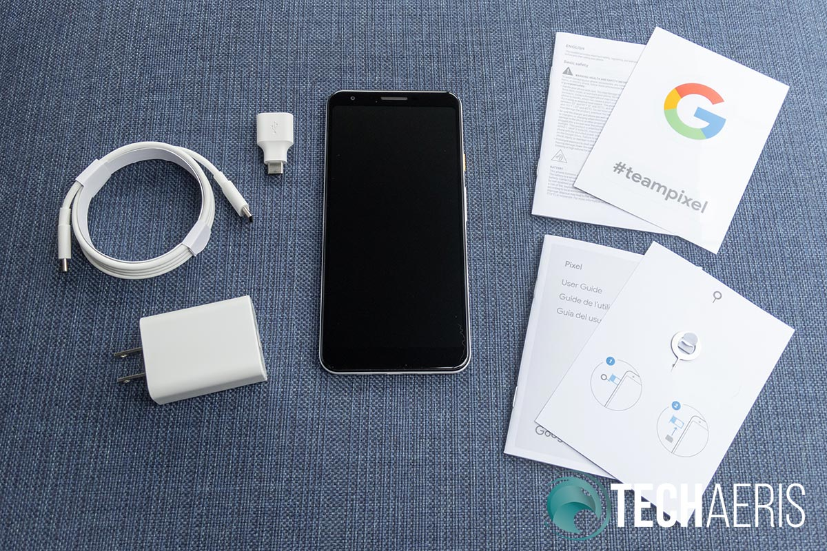 What's included with the Google Pixel 3a XL Android smartphone