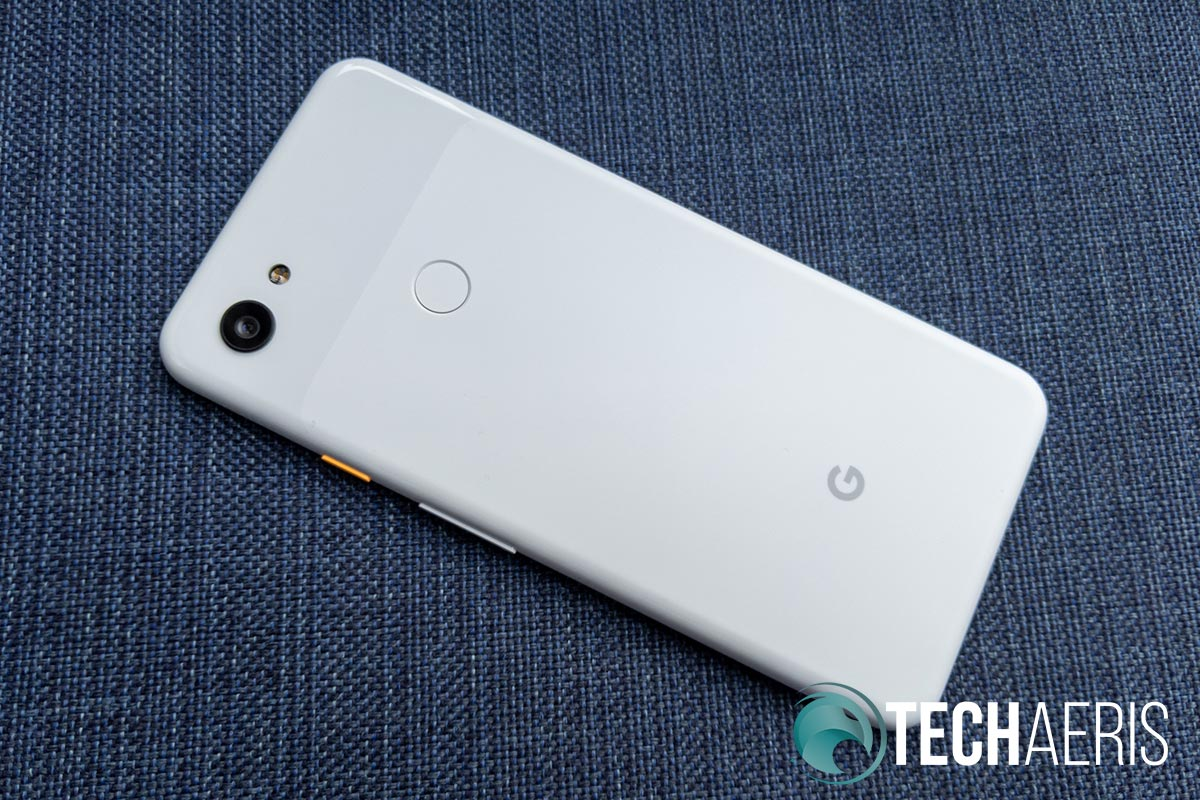 Back view of the Google Pixel 3a XL