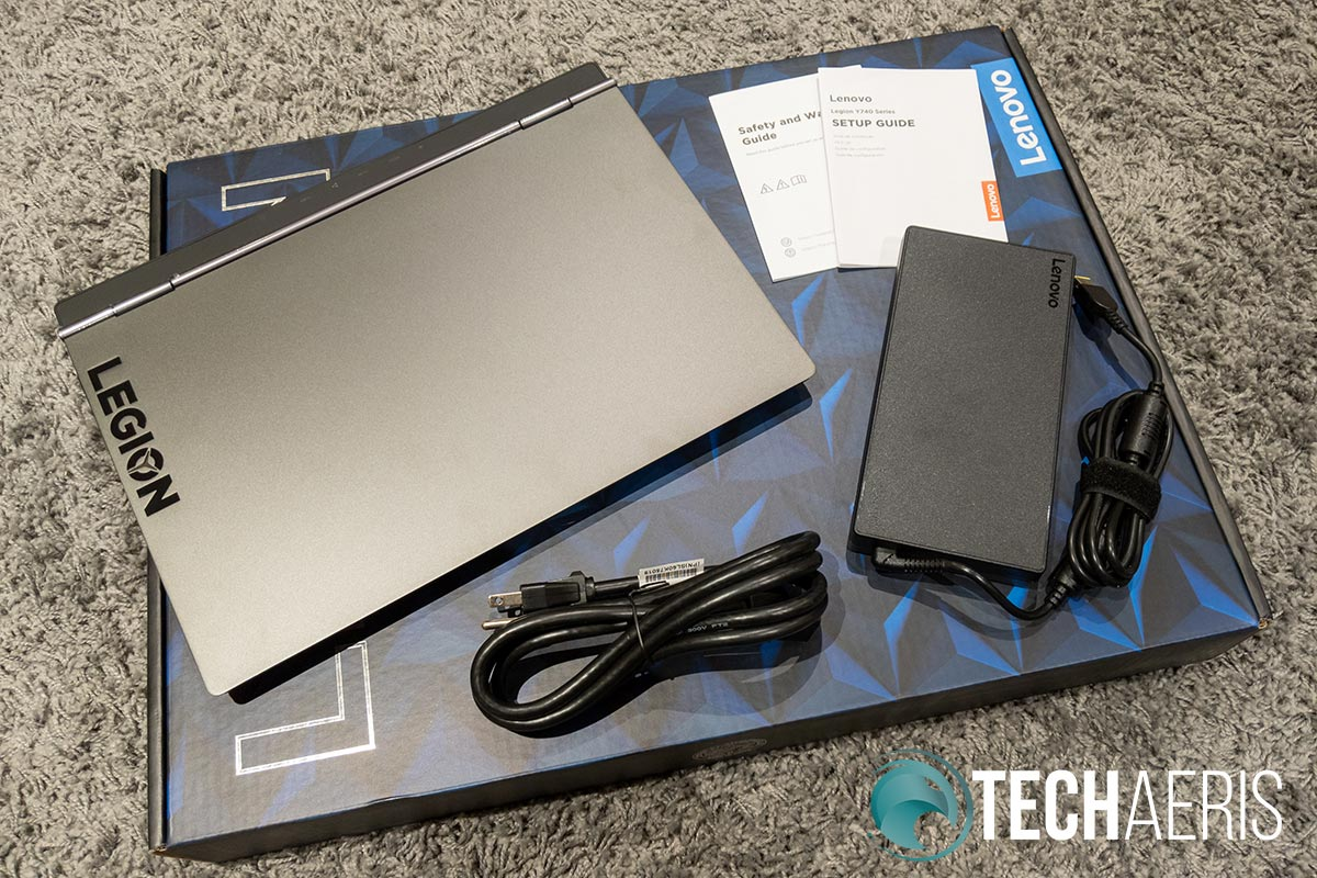 """What's included with the Lenovo Legion Y740 15"""""""