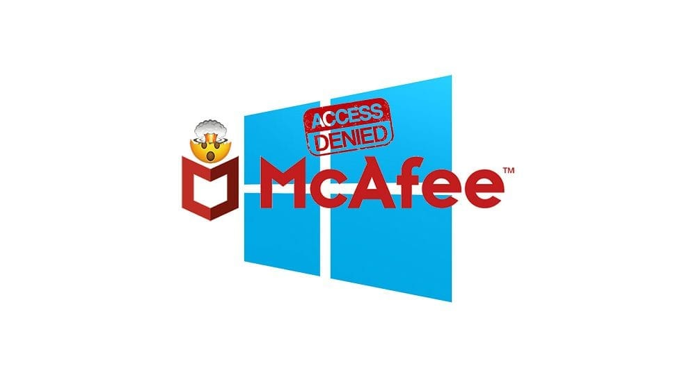 McAfee antivirus update prevented login into Windows, McAfee