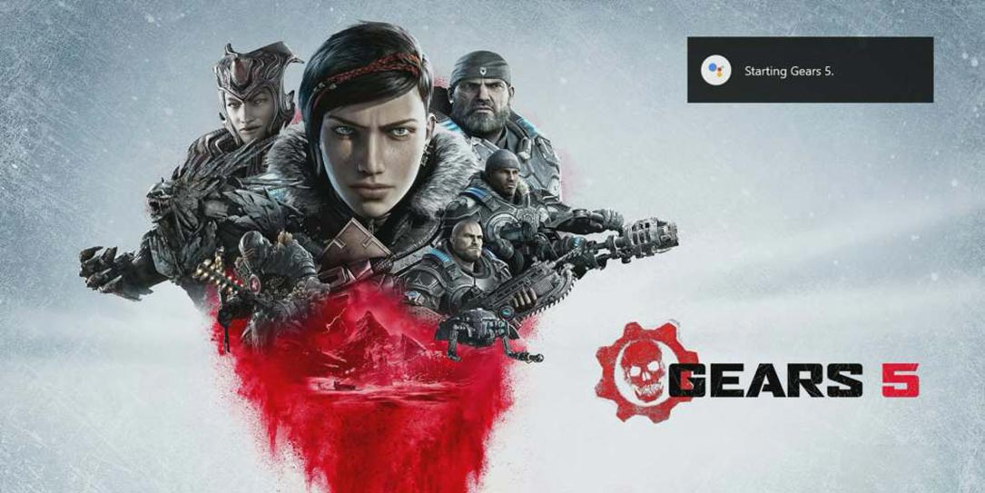 Xbox Action for Google Assistant launching Gears 5