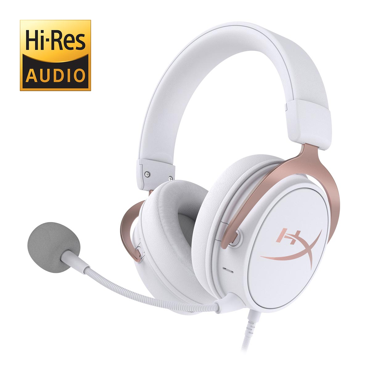 The HyperX Cloud MIX Rose Gold Wired/Bluetooth gaming headset