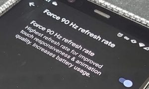 Google Pixel 4 Force 90YHz refresh rate screen