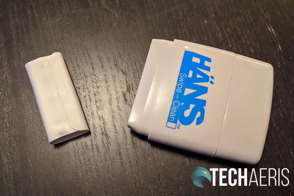 The HÄNS Swipe - Clean polishing cloth can be removed, refolded, and washed for extended use