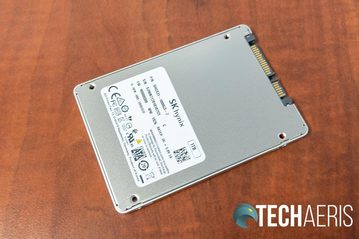 Bottom view of the SK hynix Gold S31 SSD drive