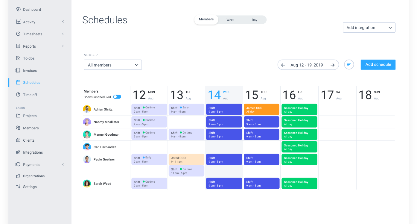hubstaff employee scheduling software providers for businesses