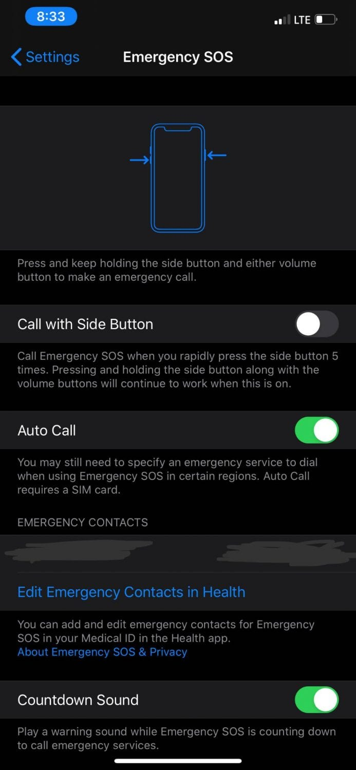 Call with Side Button iPhone
