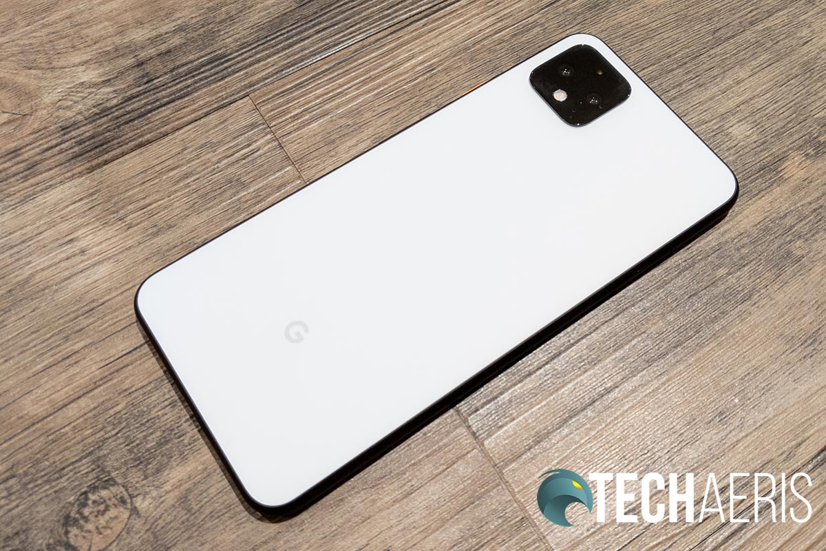 The back of the Google Pixel 4 XL smartphone