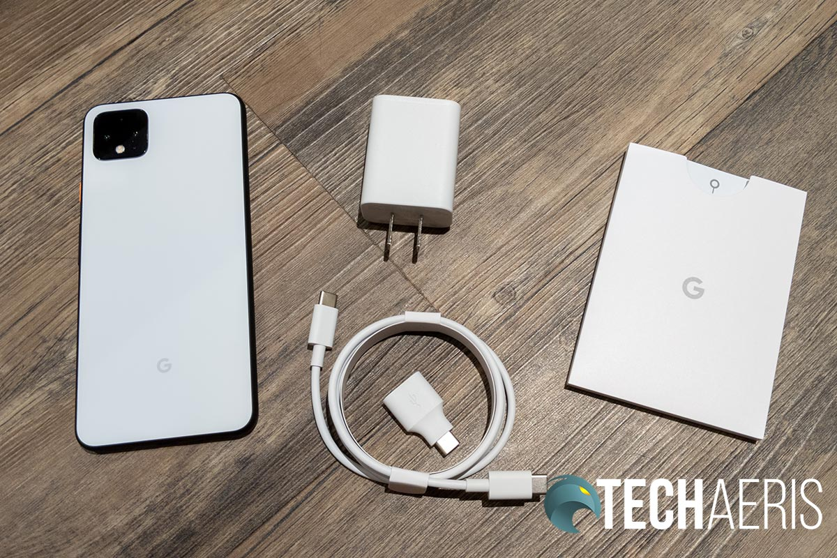 What's included with the Google Pixel 4 XL smartphone