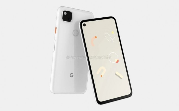 Rumou]red front and back renders of the Google Pixel 4a