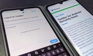 Twitter Android app on an LG G8X ThinQ Dual Screen smartphone