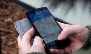 Smartphone app map privacy