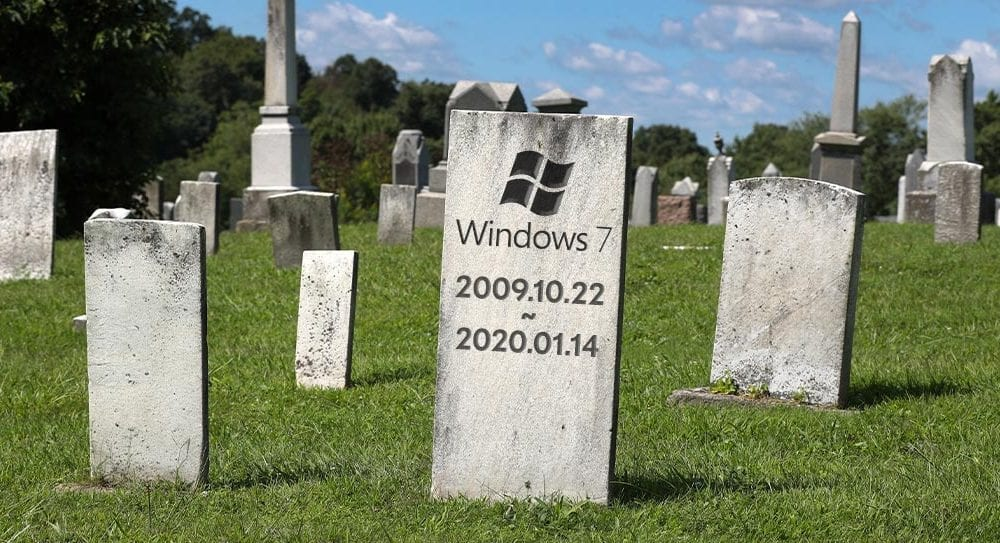 Windows 7 tombstone graveyard