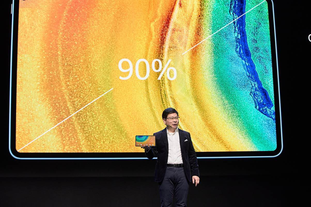 With thin bezels, the Huawei MatePad Pro 5G offers up a 90% screen-to-body ratio