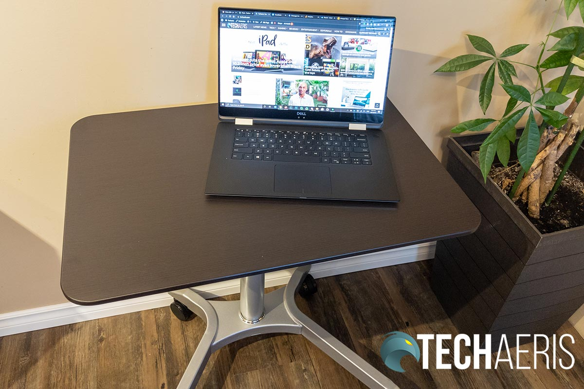 The Seville Classics Airlift XL sit-stand desk cart