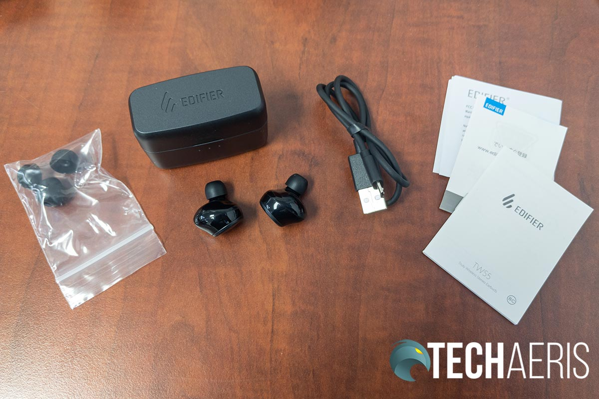 What's included with the Edifier TWS5 earbuds