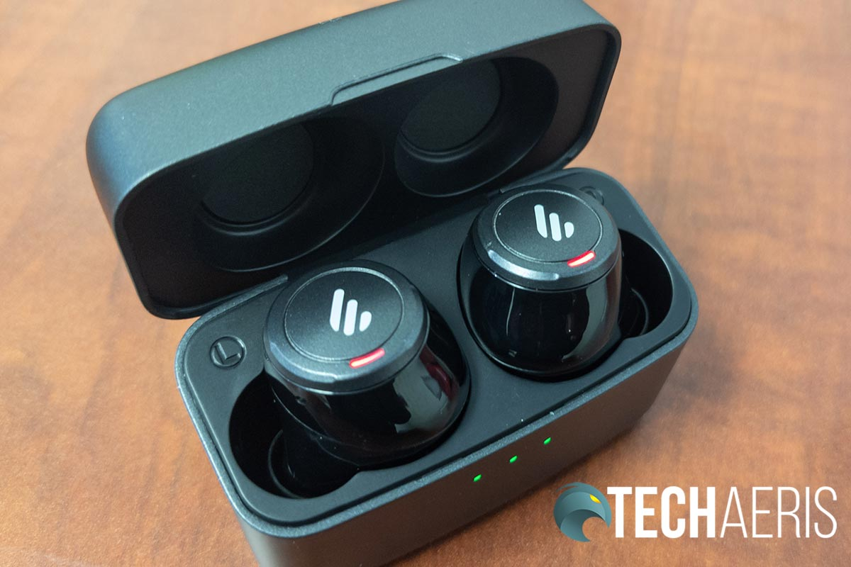 The Edifier TWS5 with charging case