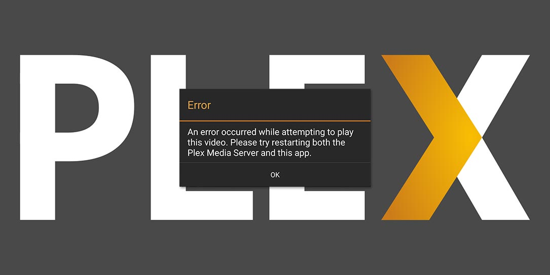 Plex Android TV app error message