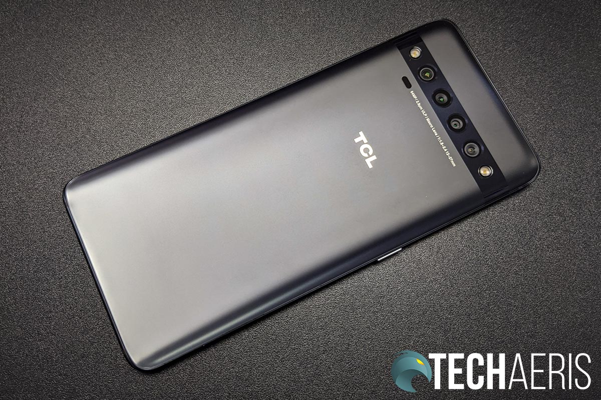 The back of the TCL 10 Pro Android smartphone