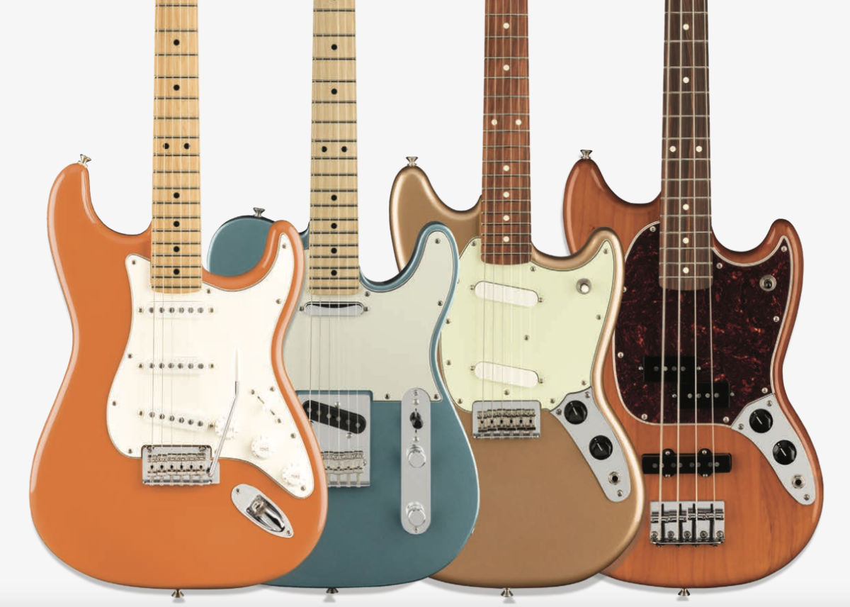 Fender Players Series guitar and bass