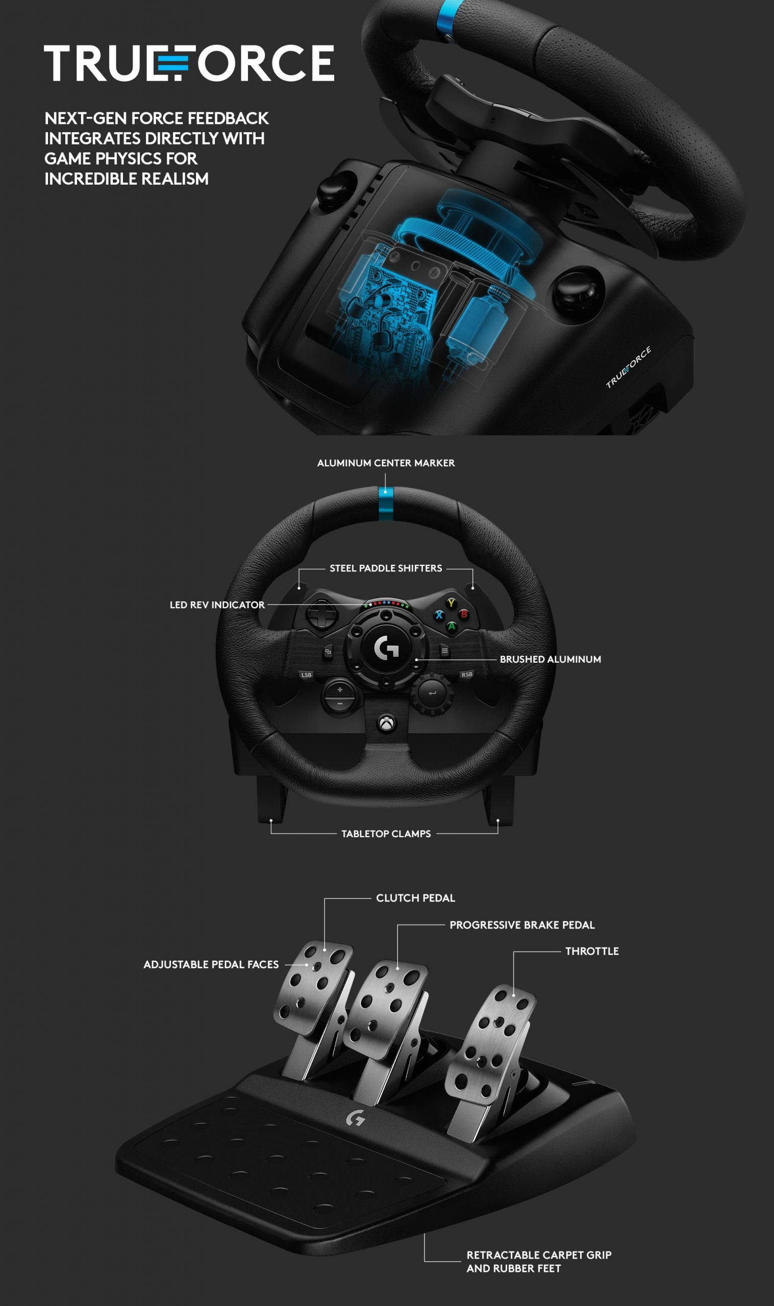 Features of the Logitech G923 Racing Wheel