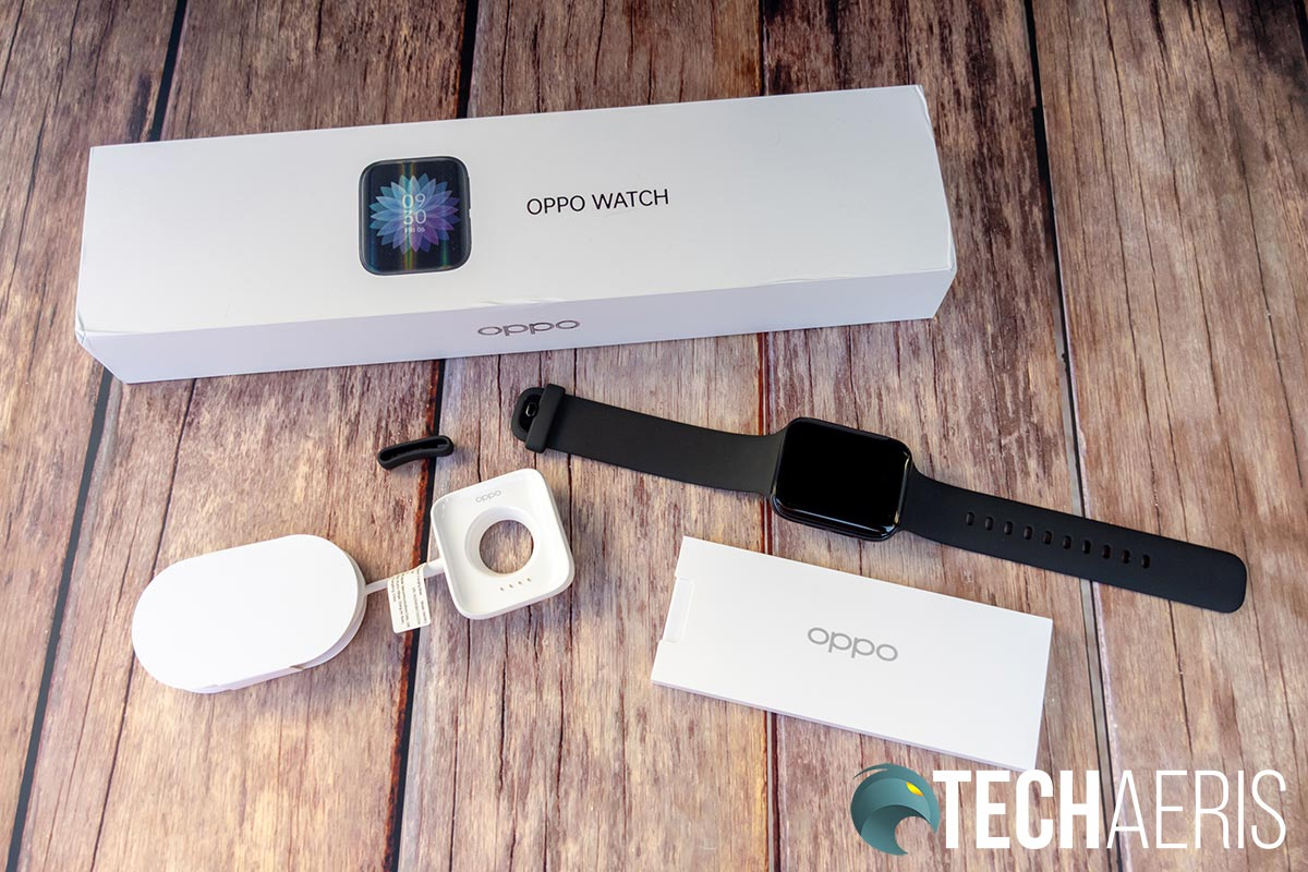 What's included with the OPPO Watch 46mm (Wi-Fi)