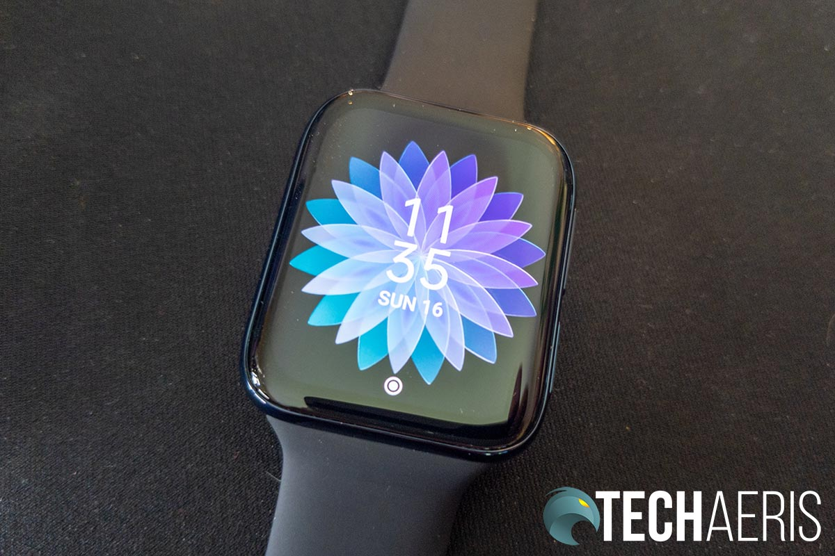 One of the default faces on the OPPO Watch 46mm (Wi-Fi)