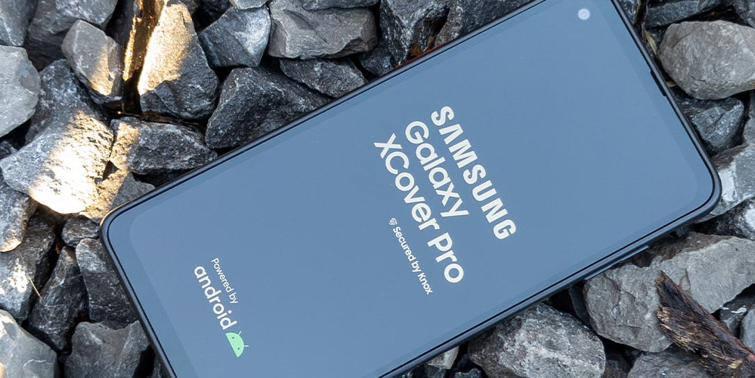 The Samsung Galaxy XCover Pro rugged smartphone
