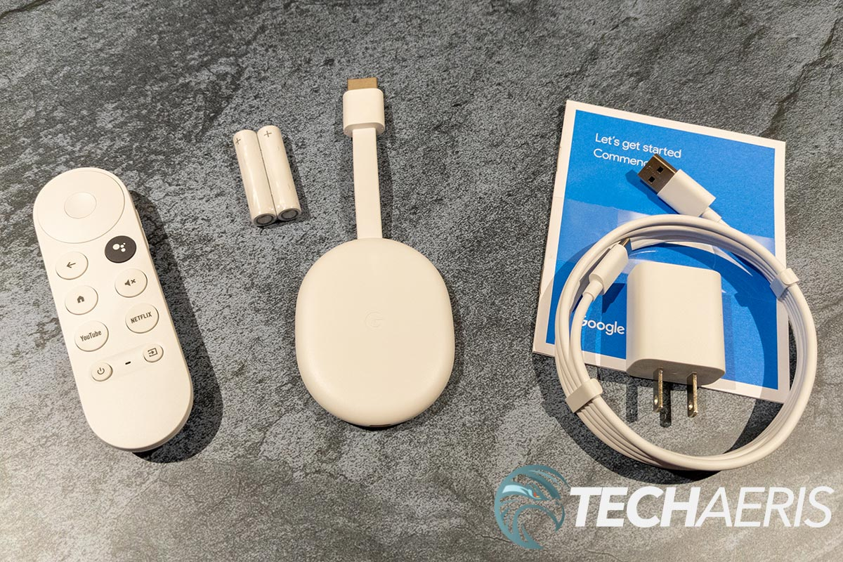 What's included with the Chromecast with Google TV