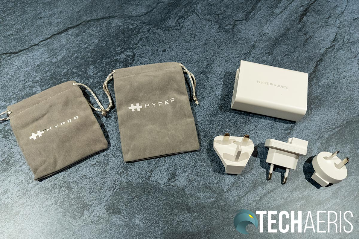 What's included with the HyperJuice GaN 100W USB-C Charger
