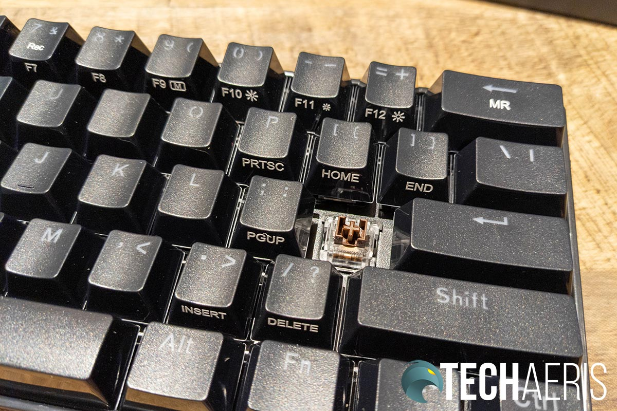 The Redragon K530 Draconic mechanical gaming keyboard features the company's brown tactile mechanical switches