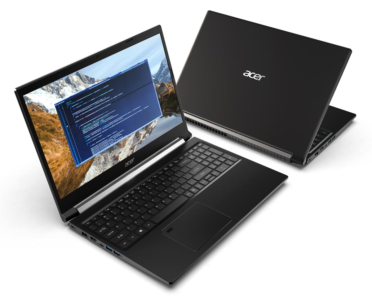 The Acer Aspire 7 gaming notebook
