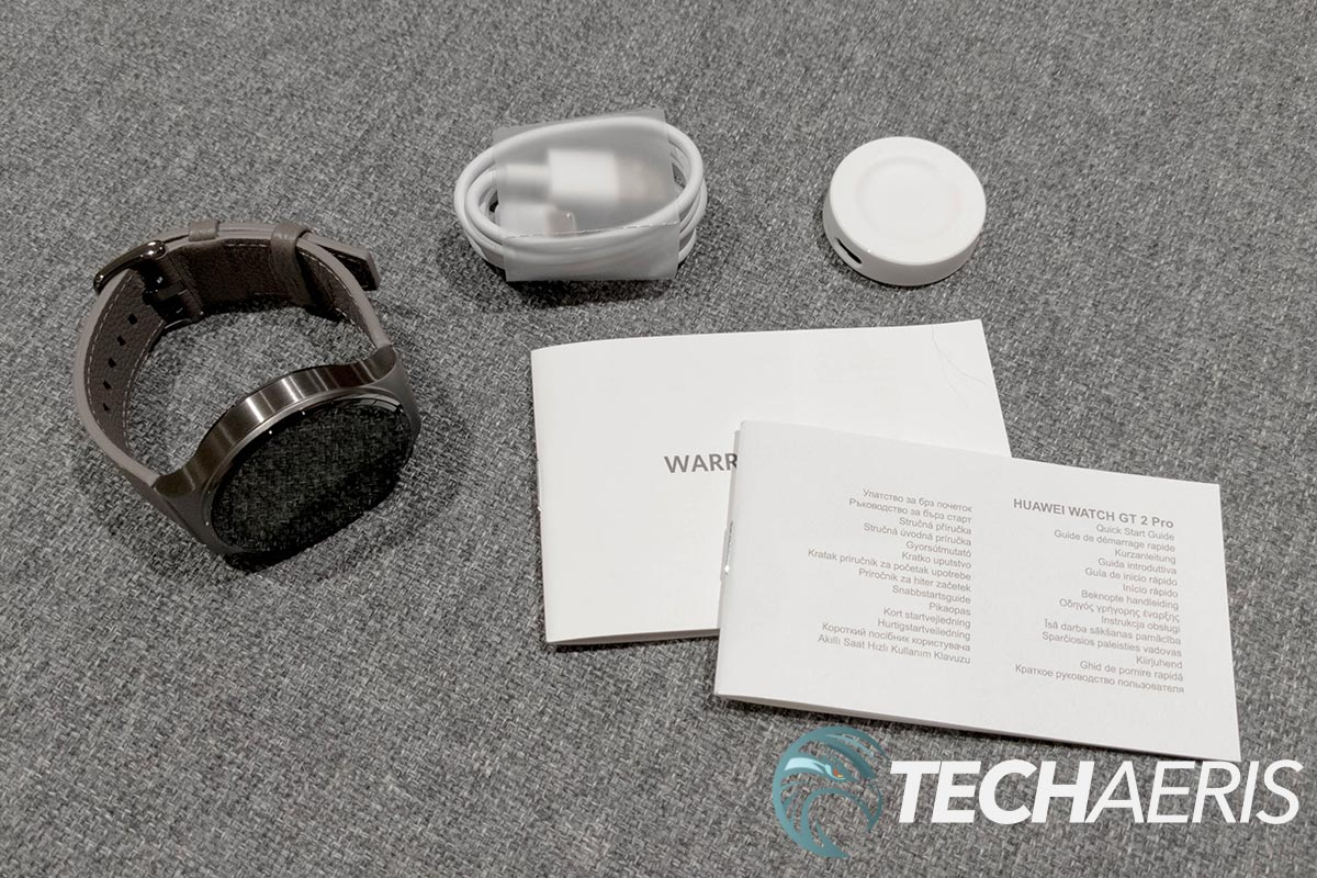 What's included with the Huawei Watch GT 2 Pro smartwatch