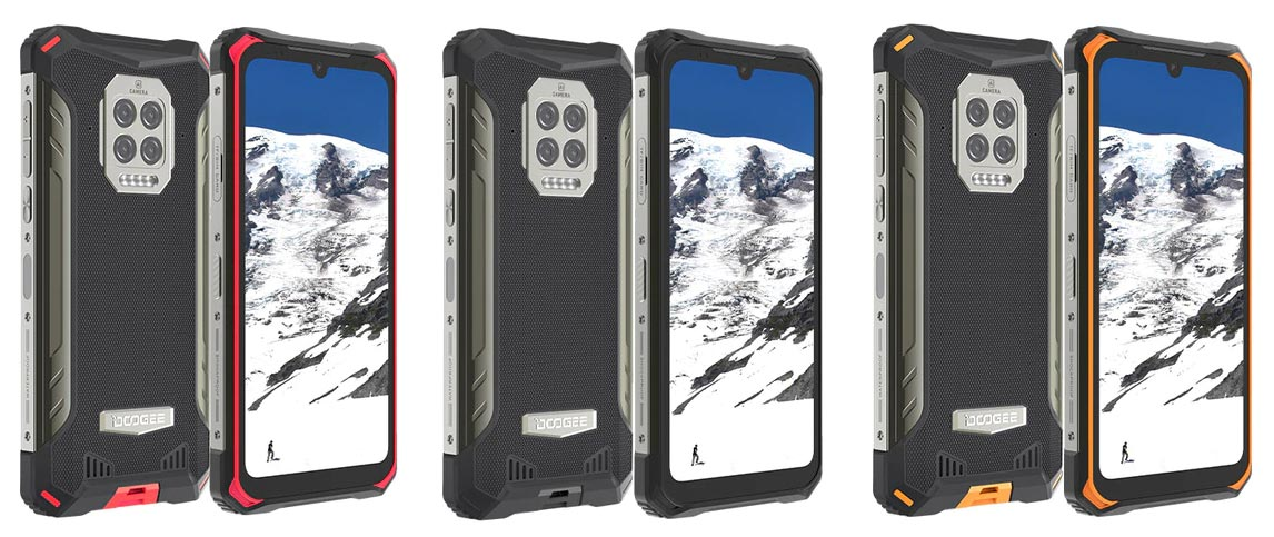 The DOOGEE S86 rugged smartphone is available in three different colour variants