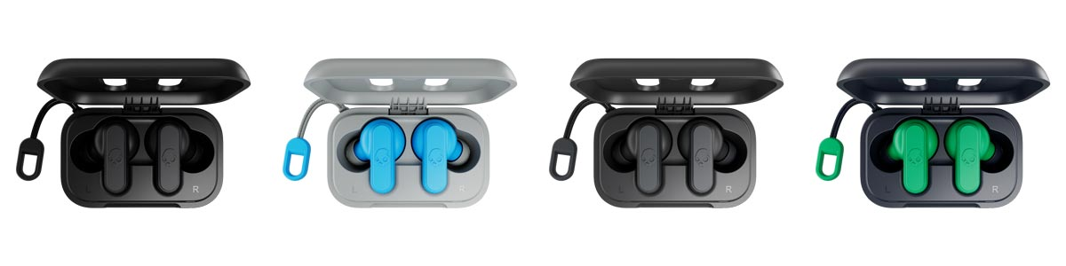 The Skullcandy Dime True Wireless Earbuds are available in four colorways