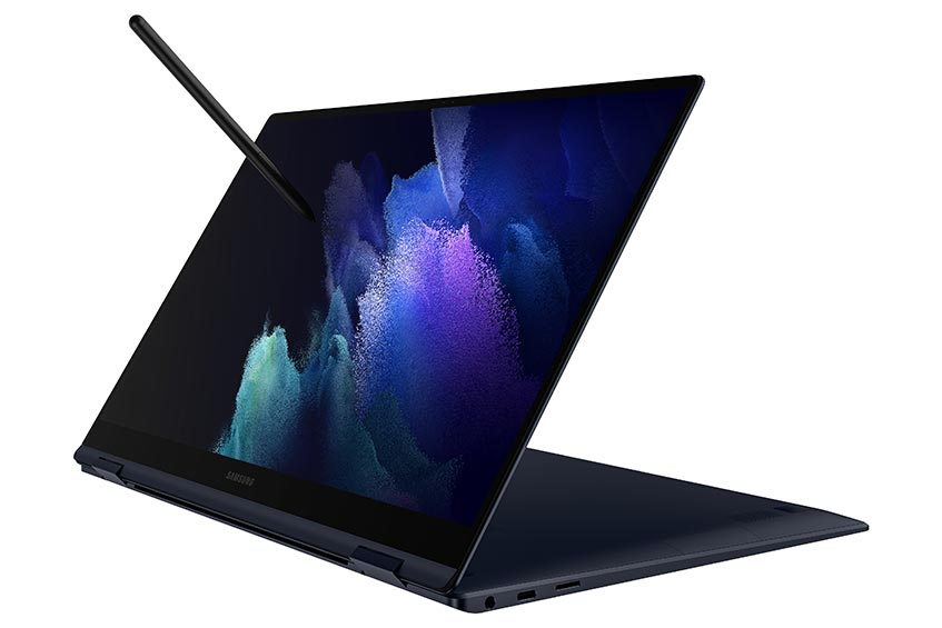 The Samsung Galaxy Book Pro 360 in Mystic Navy