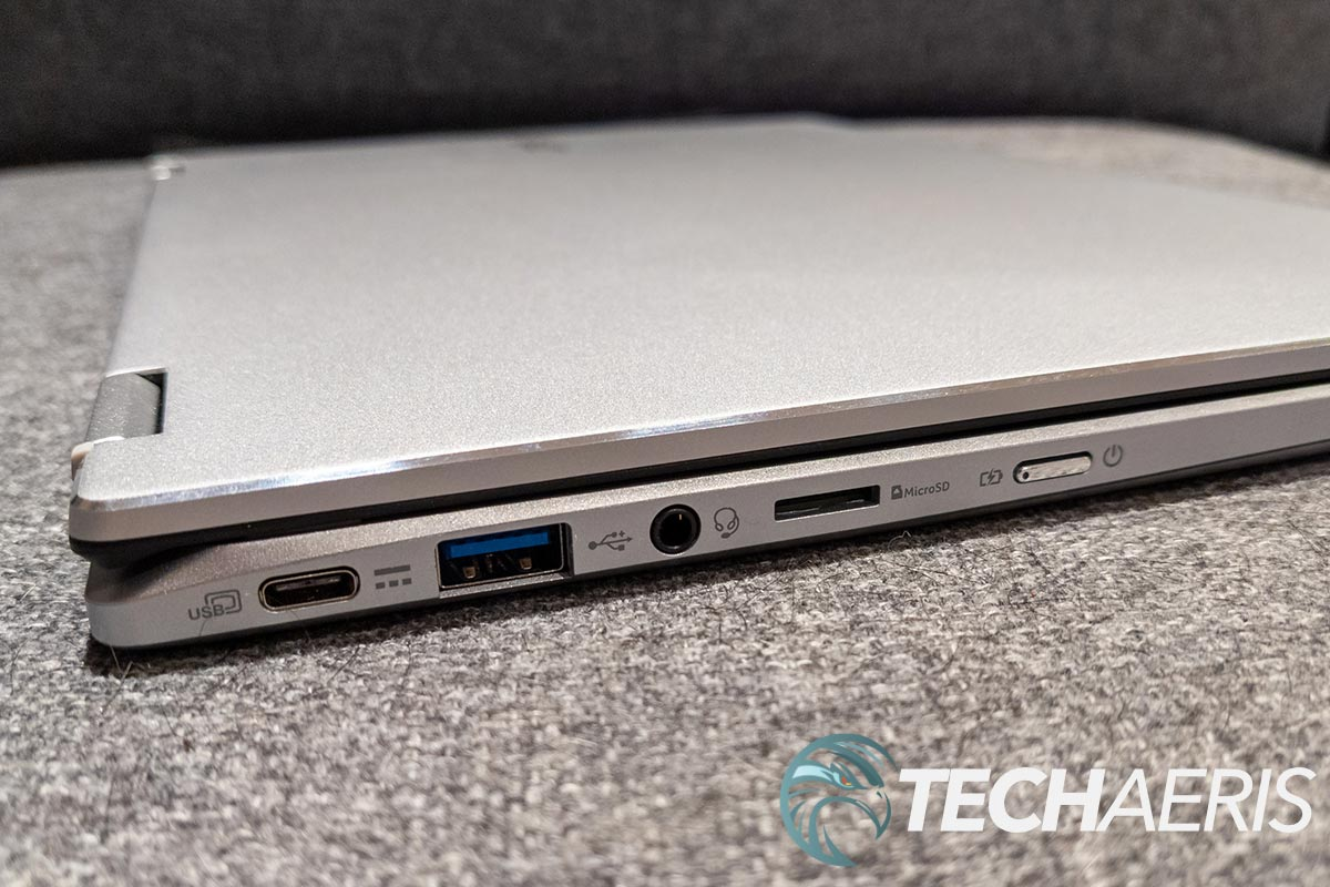 The ports on the left side of the Acer Chromebook Spin 514 laptop
