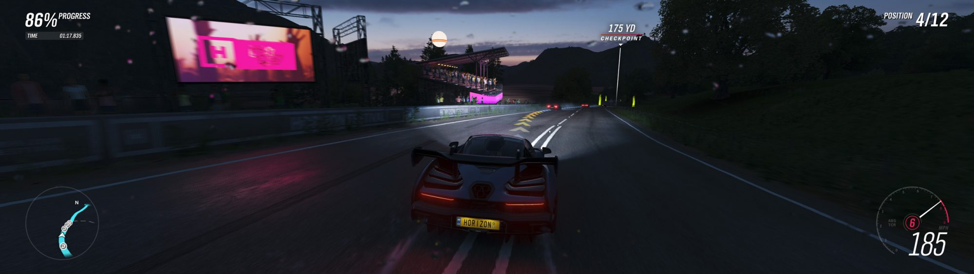 Screenshot of Forza Horizon 4 running on PC in Ultra settings (resized and resampled down for web)
