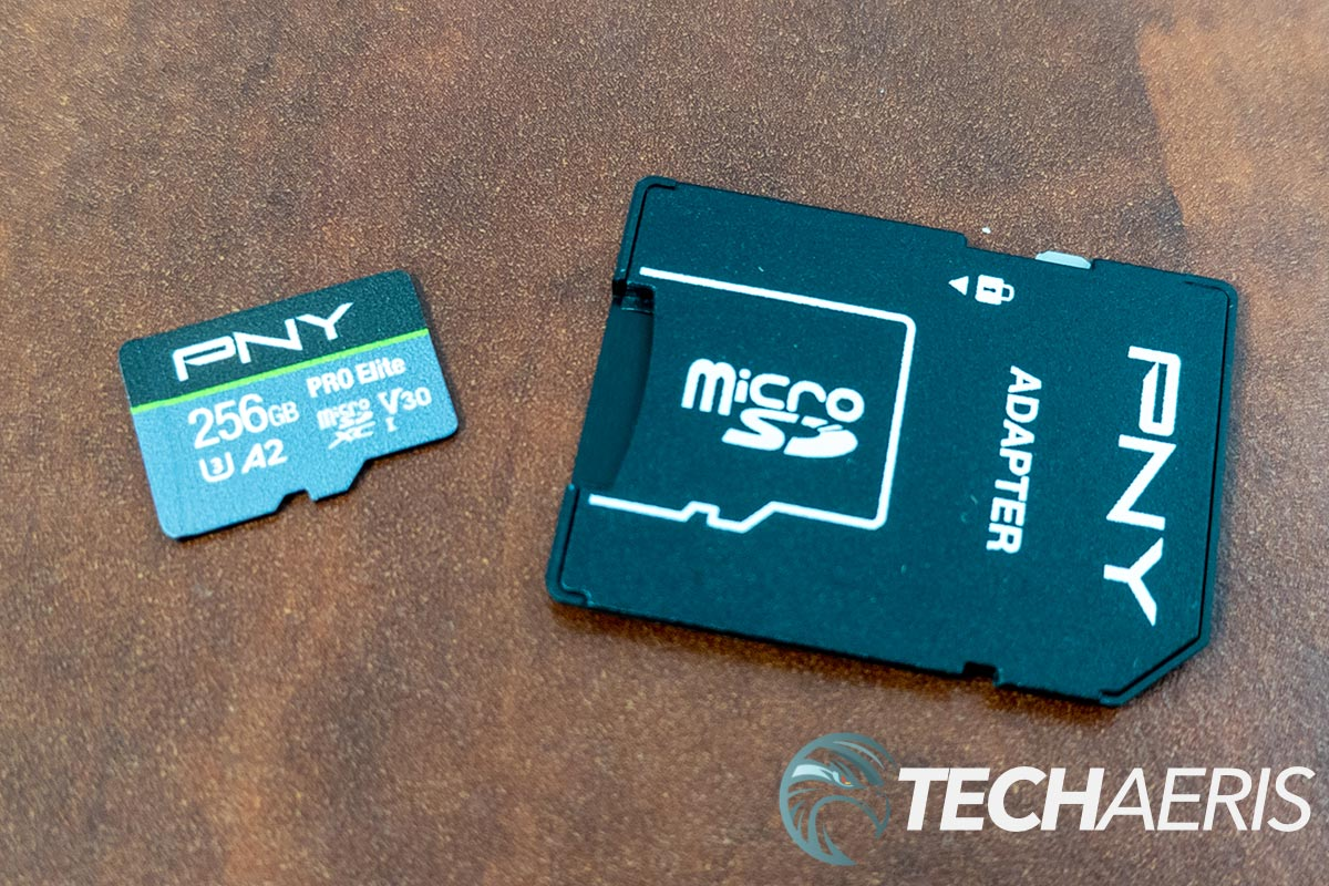 PNY Pro Elite microSDXC Flash Card with included SD card adapter
