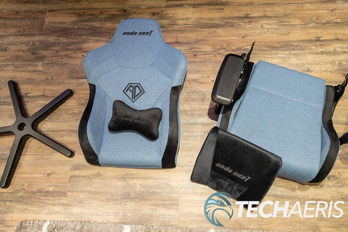 The main pieces of the Anda Seat T-Pro 2 gaming chair