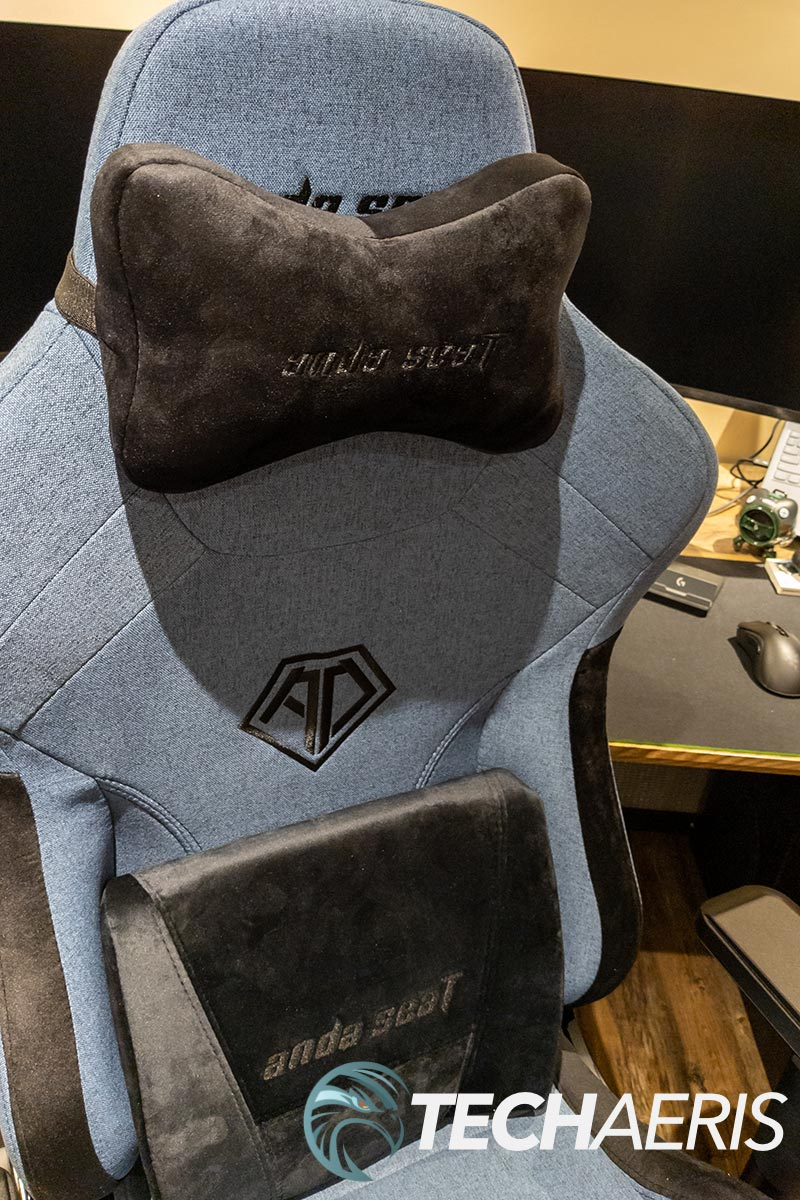 The velour support pillows that come with the Anda Seat T-Pro 2 gaming chair are super comfortable