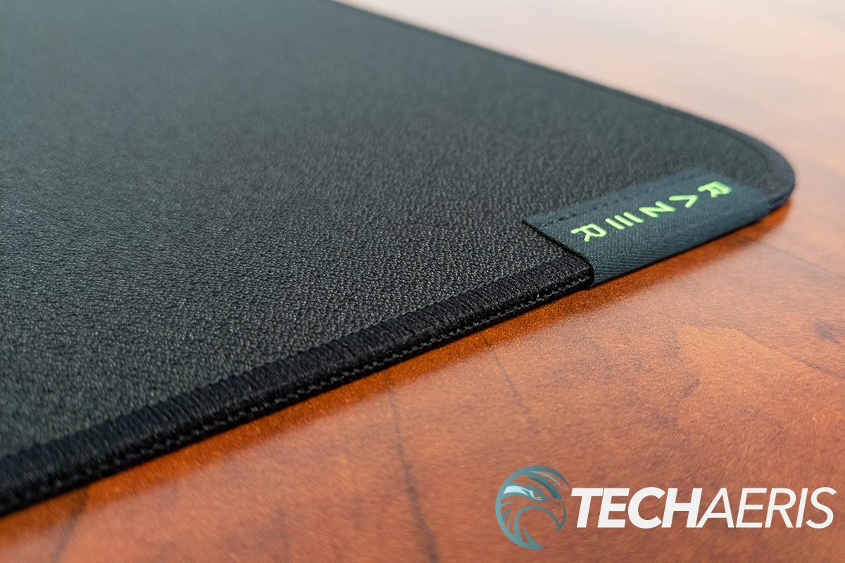 The Razer Strider hybrid mouse mats have a nice stitched edge to prevent fraying