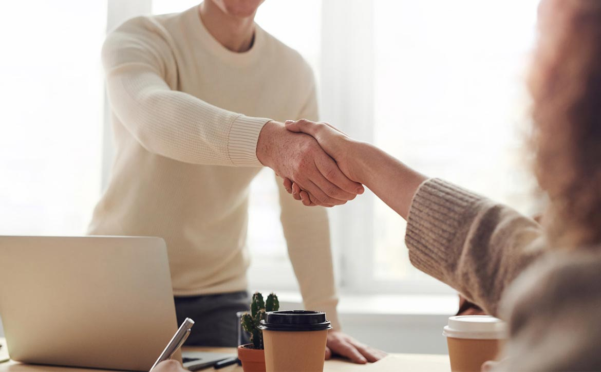 business ideas shaking hands