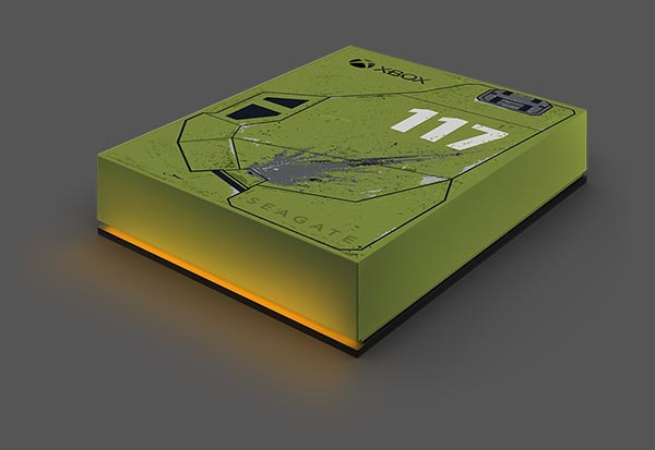 The Seagate Game Drive for Xbox Halo Infinite Special Edition
